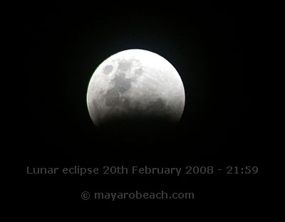 Partial Lunar eclipse - 20th February 2008