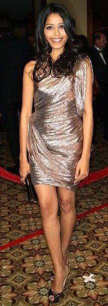 Freida Pinto in a Short Dress