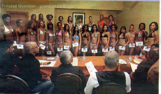 Beauties Aspiring to be Miss Universe Trinidad and Tobago 2010