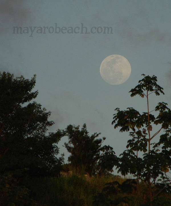 December 30th 2009 - Full Moon at St. Augustine, Trinidad and Tobago