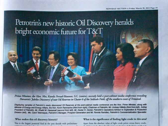 Trinidad and Tobago latest oil find