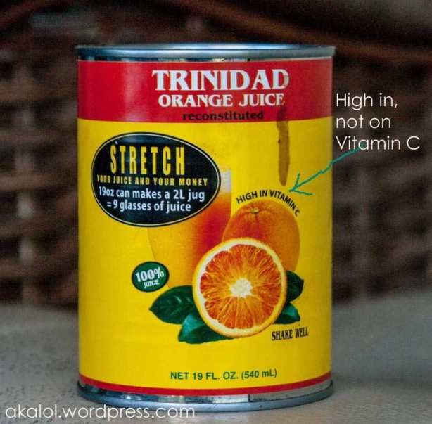 Trinidad Orange Juice - a Trinidad and Tobago Icon
