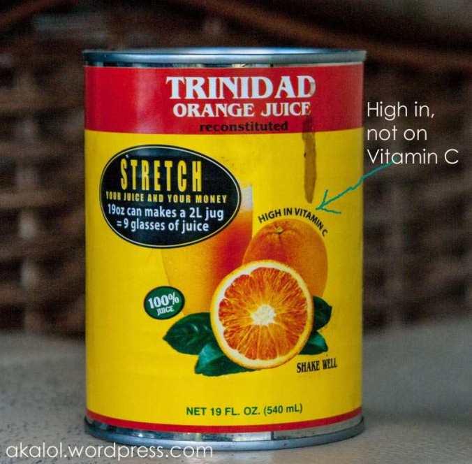 Trinidad Orange Juice - a Trinidad and Tobago Icon
